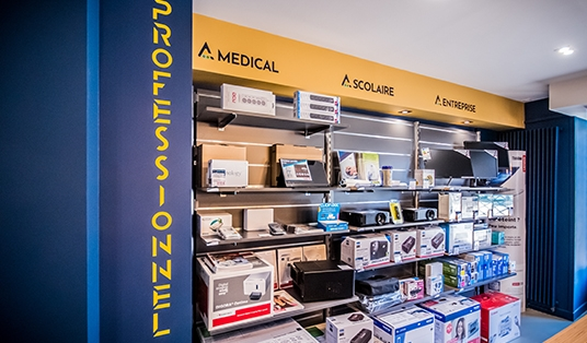 Agencement magasin espace professionnel Bourges