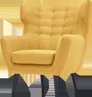 Fauteuil vintage jaune
