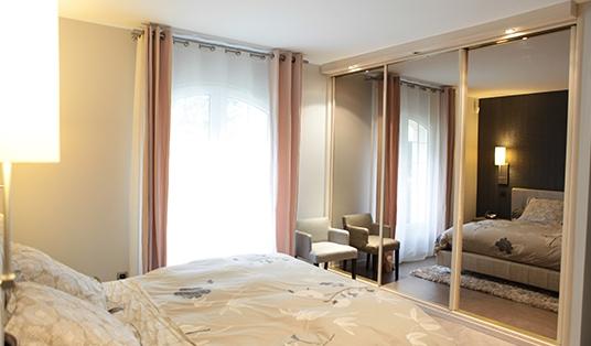 chambre rideaux et dressing