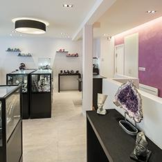 Aménagement et décoration d'un showroom de lithothérapie à Senlis