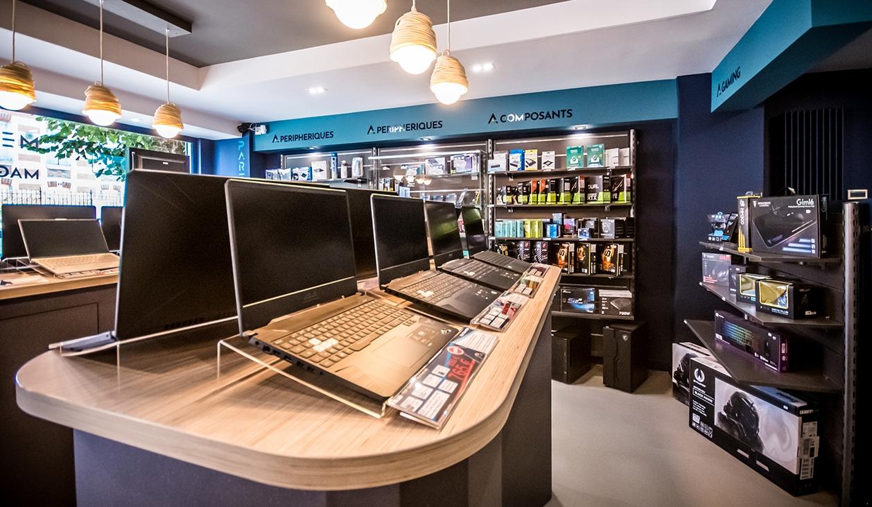 mobilier sur-mesure agencement magasin Bourges