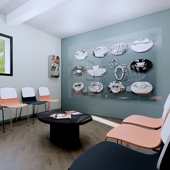 Concept Salle d'attente cabinet dentaire